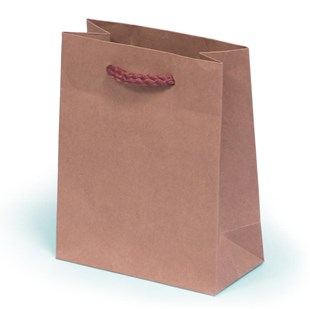 Kraft Paper Gift Bag With Rope Handles 13 x 6 x 16cm (RPK13)