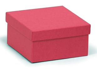 Deeper square kraft recycled red box 89 x 89 x 51mm (KCRED21)