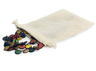 Large cotton fabric pouch with cord drawstring 12.7 x 17.8 cm - Pack of 12 (CB57)