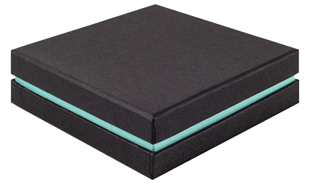 Shoulder Box Collection   Bangle Jewellery Box Black & Turquoise
