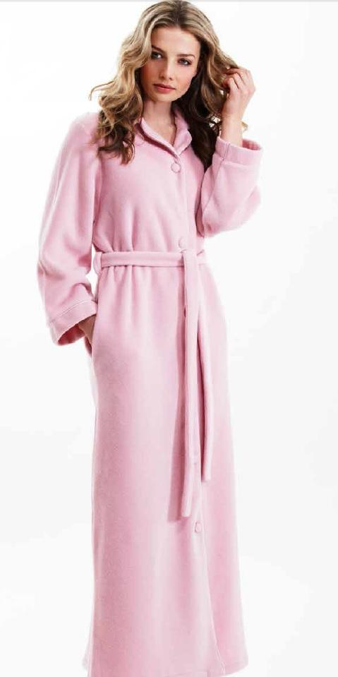 bb010f9291 Influence Ladies Buttoned Fleece Dressing Gown L90 289