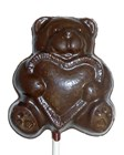 Chocolate Bear with Heart Sucker