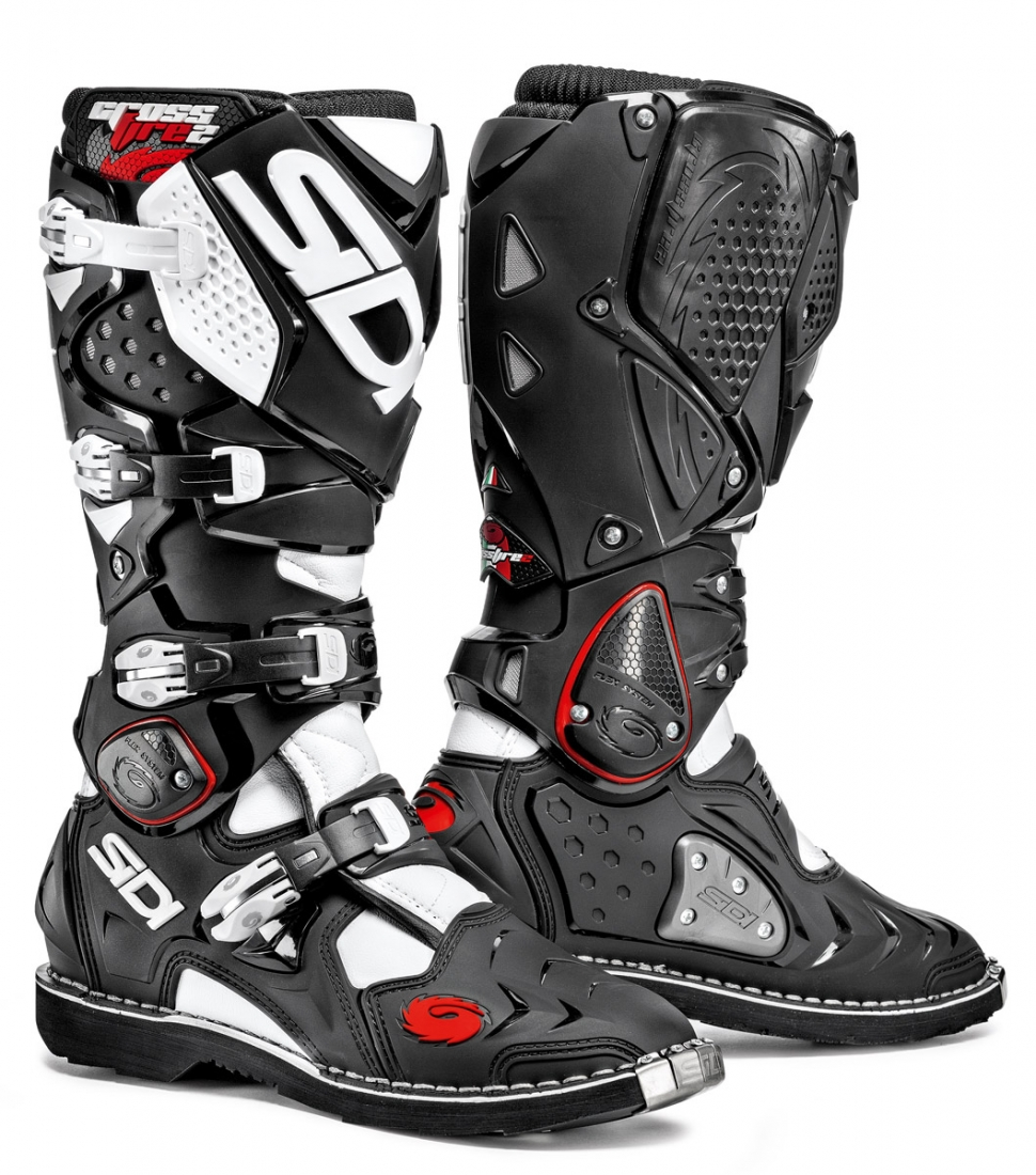 f3ddcba318a SIDI CROSSFIRE 2 - BLACK   WHITE Off-Road Motorcycle Boot