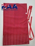 6 Pocket Red And White Pinstripe Knife Roll