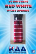 10 Red White Waist Aprons Bulk Discount