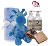 Giraffe New Baby Boy Hamper Hugs