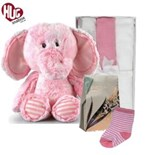 Elephant Snuggles New Baby Girl Hamper Hugs