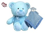 Bear and Blankey Hug Hamper - Blue