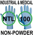 Nitrile - Ansell 92-665 Touch N Tuff LONG Blue Powder Free Disposable Gloves - Conforms to EN374 Complex Design - Box of 100 - AN-304672