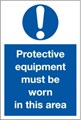 Protective Equipment Area Sign LARGE - 400 x 600Hmm - Rigid Plastic - [AS-MA32-RP]