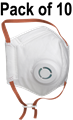 AIR+ FFP2 Valved Foldable Smart Mask - Conforms to EN149:2001+A1:2009 - Pack of 10 - [AR-700000]