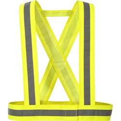 Portwest - Yellow Hi-Vis Strap - Waist and Shoulder Band Width 75mm - Conforms to EN 13356 - [PW-HV55YER]