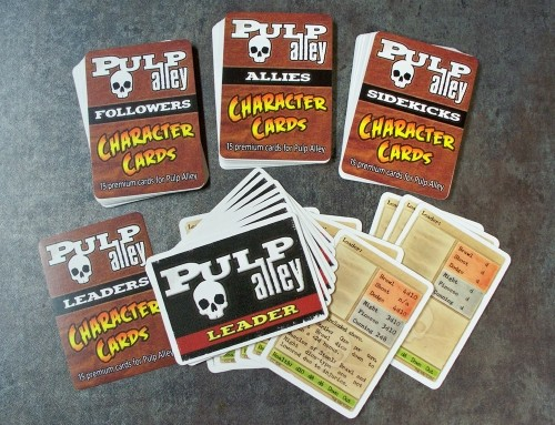 Pulp Alley Character Cards back in stock