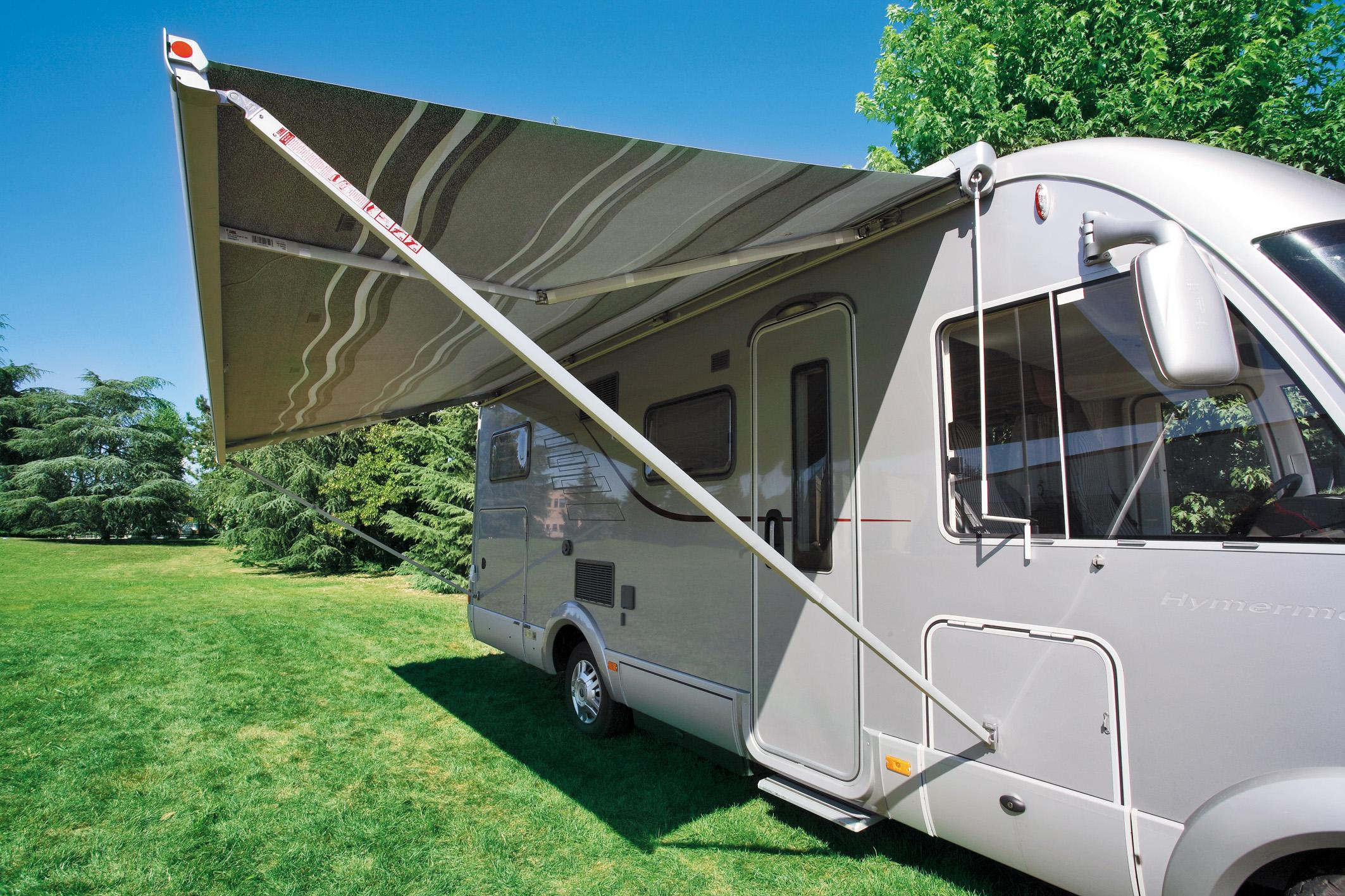 Fiamma F45s Awning 450cm White Case With A Royal Grey