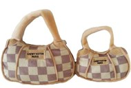 Checker Chewy Vuiton Bag Toy