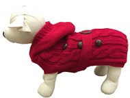 Paris Dog Sweater - Red