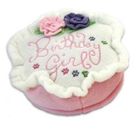 Birthday Cake Girl Plush Dog Toy