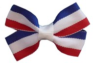 Blue,White & Red Pet Hair Bows (4 Pack) Large