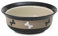 City Pets Bone Ceramic Pet Bowl