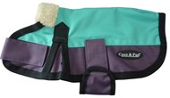 Waterproof Dog Coat 3009 - Teal & Purple (Small to Medium Dogs)