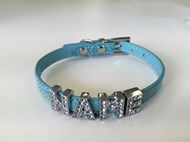 Croc Personalised Dog Collar - Blue