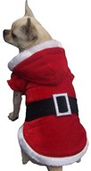 Christmas Santa Dog Coat (02) with Black Belt