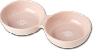 Wubbys Duo Ceramic Pet Bowl (Pink)