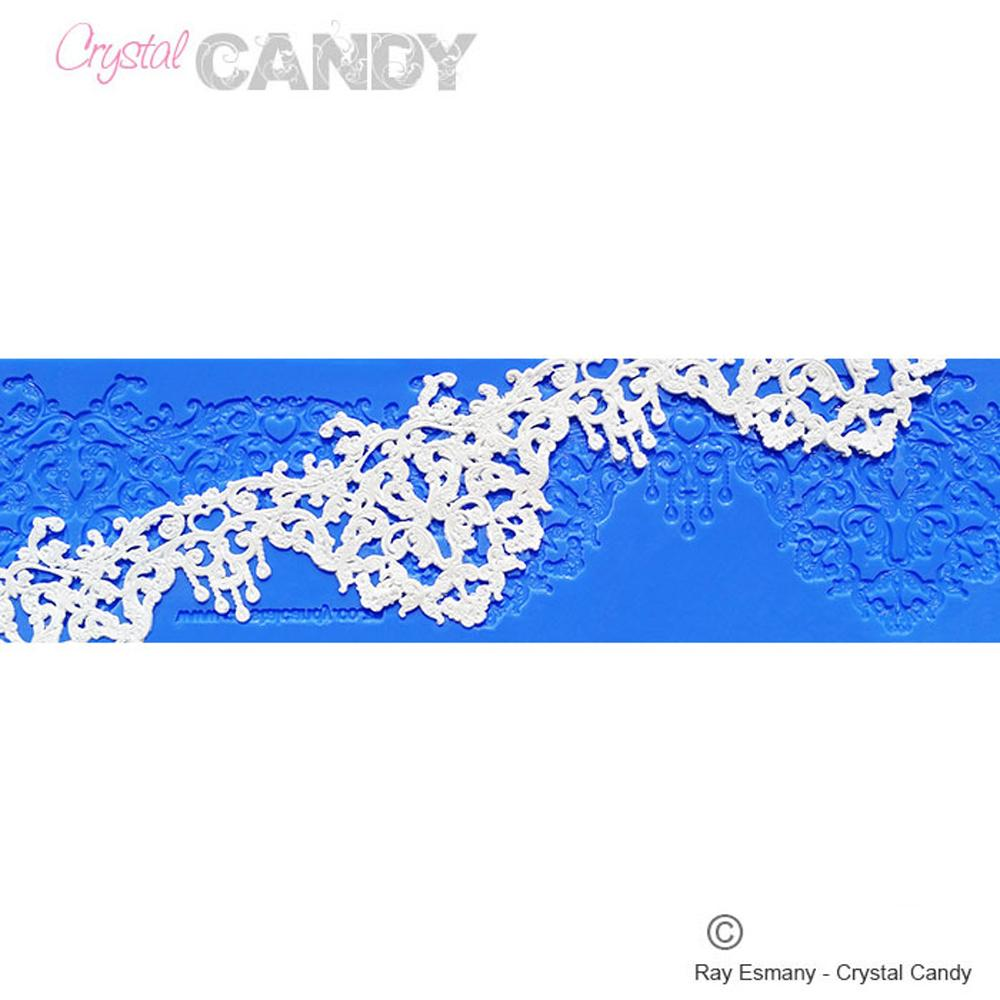 Crystal Candy Platinum Lace Mat Rococo Crystal Candy
