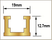 T Track Gold 1220mm