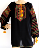 Long Sleeve Embroidered Ladies Blouse Polonyna