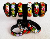 Hand Painted Bangle Slavic Style - many varieties
