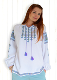Long Sleeve Ladies Embroidered Blouse Galochka