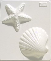 Mould 2140 - Star Fish and Shell
