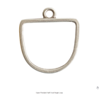 Open Pendant Half Oval Single Loop Antique Silver Packet of 3