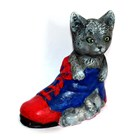 LM 1013 Cat in boot Latex Mould/Mold for Plaster/candle/Soap/Concrete