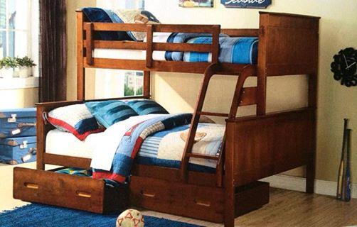 Bunk Bed Only Double Single White Or A Oak Solid New Design