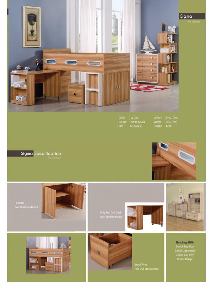how to build a cabin bed with desk and storage