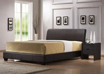 Queen bed + 2 x bedsides NEW CHOC OR BLACK