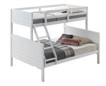 Double / Single bunk white NEW DESIGN white