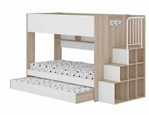NEW ARRIVAL SINGLE OVER SINGLE PLUS TRUNDLE with staircase storage