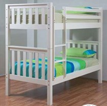 King single bunk only in artic white NEW