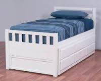 Trundle King Single bed WHITE or walnut with drawers NEW