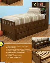 king single bed with trundle and drawers NEW design