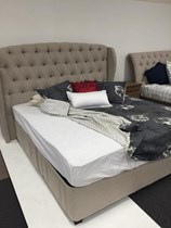 King fabric Australian made bed NEW