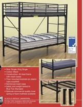 Bunk bed  Single Commercial Grade black