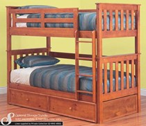 Bunk bed  single with  single TRUNDLE BED + 3 x mattresses  NEW
