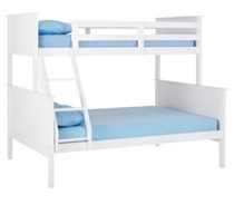 Bunk bed only double single white Or A/oak SOLID NEW DESIGN