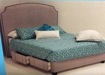 Queen bed with slat base AUSTRALIAN MADE FABRIC with drawers