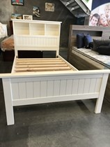 King bed with head storage in white NEW FULL TIMBER