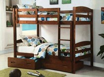 Bunk bed single with drawers in a/oak or white  NEW